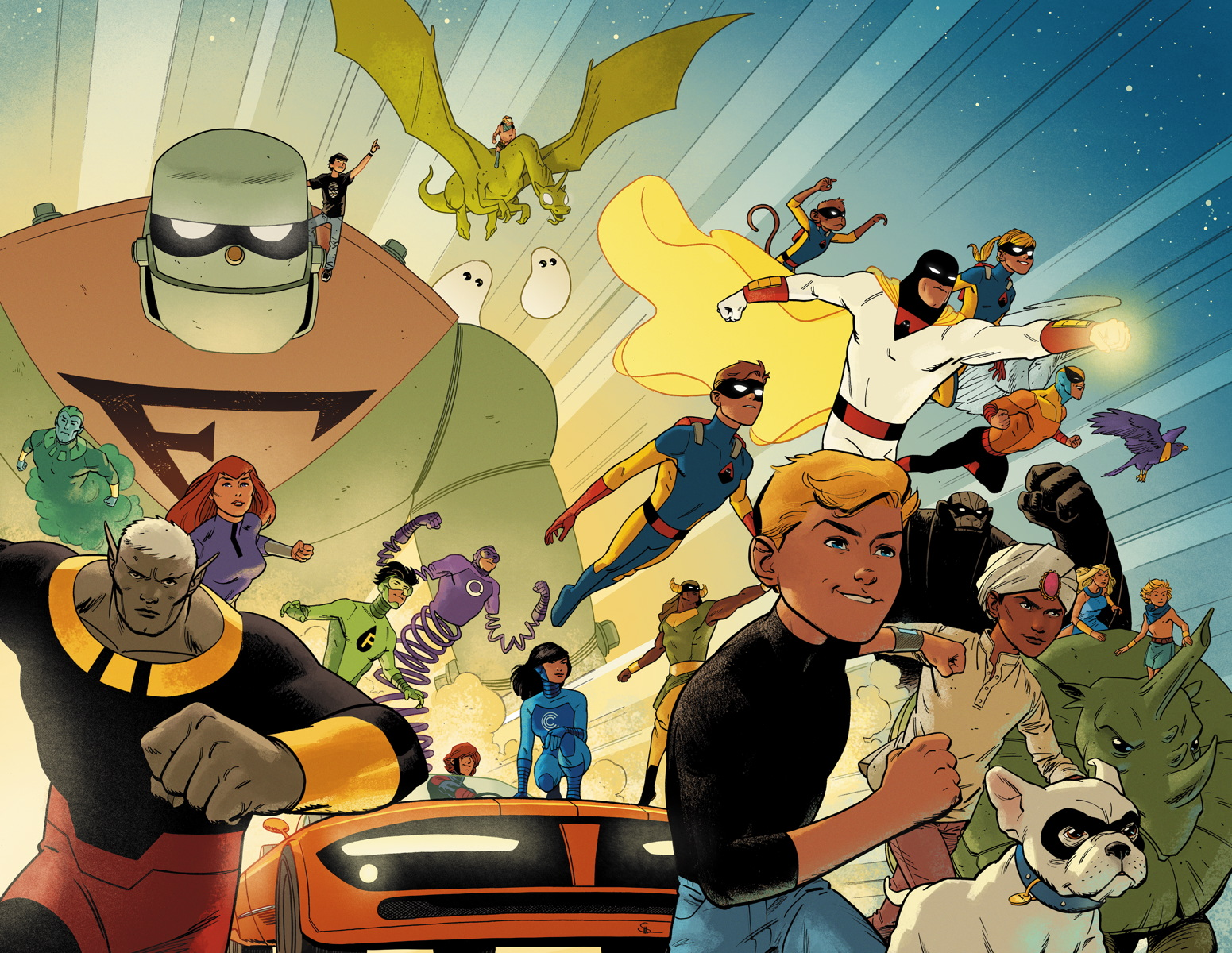 Review FUTURE QUEST #1 Is 'Golden Combination of Story, Skill & Heart'